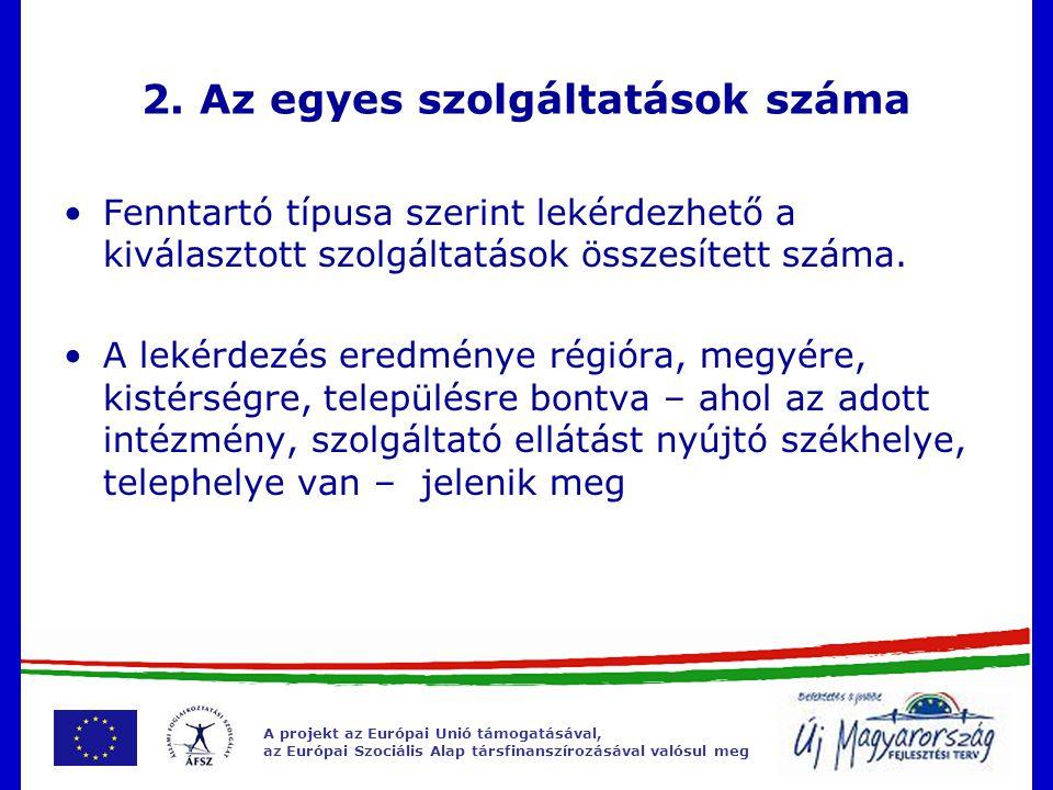 A projekt az Európai Unió támogatásával, az Európai Szociális Alap társfinanszírozásával valósul meg 2.