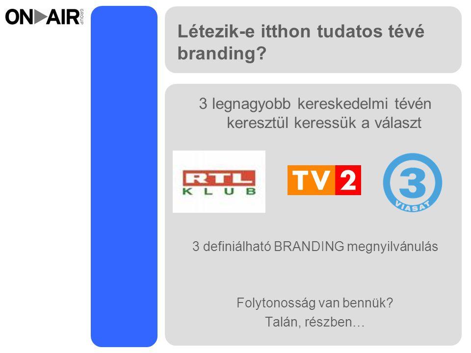 Létezik-e itthon tudatos tévé branding.