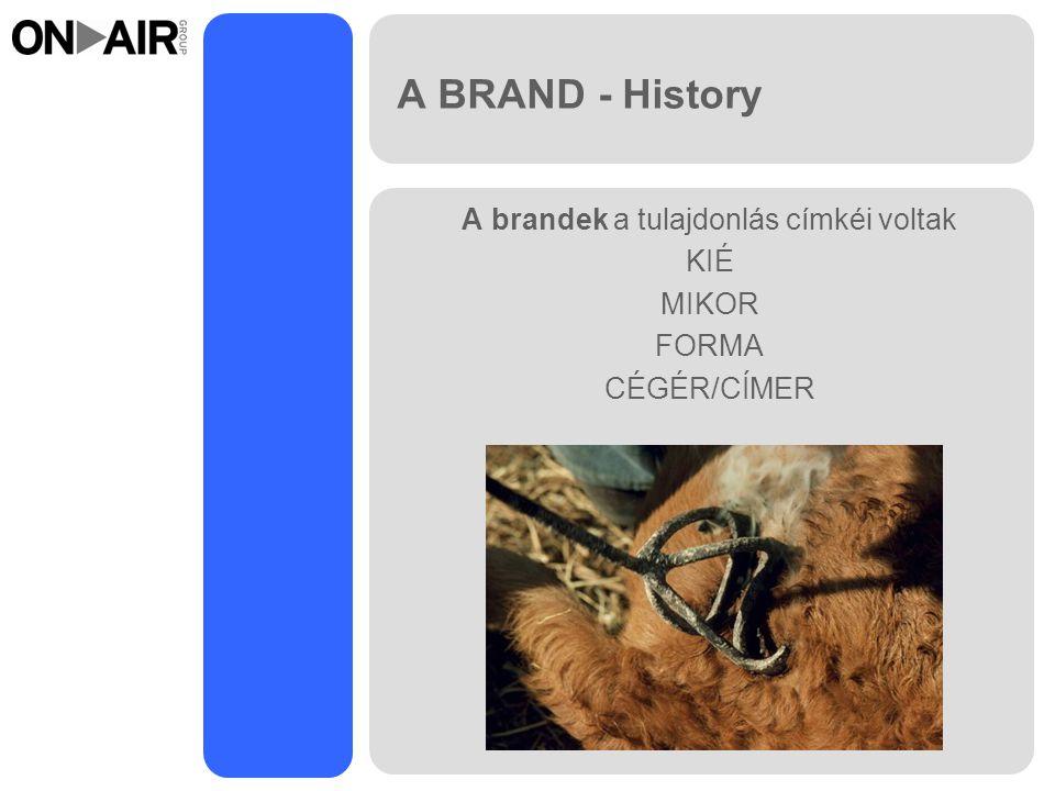 A BRAND - History A brandek a tulajdonlás címkéi voltak KIÉ MIKOR FORMA CÉGÉR/CÍMER