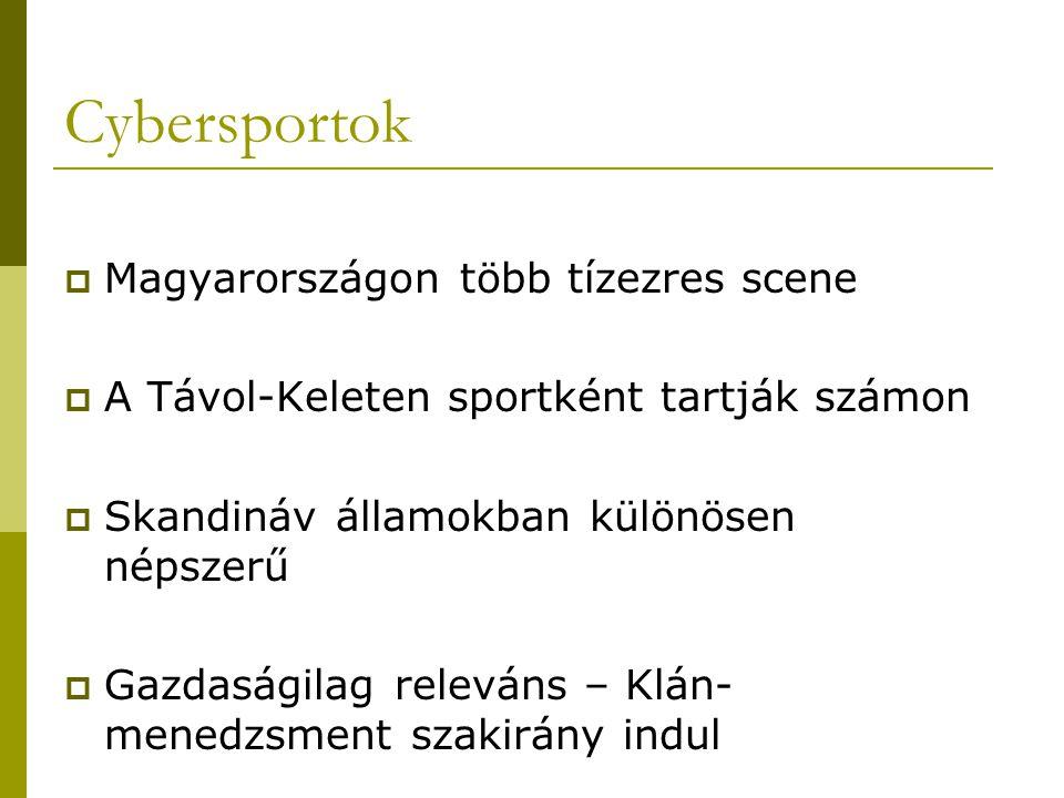  Magyarországon több tízezres scene  A Távol-Keleten sportként tartják számon  Skandináv államokban különösen népszerű  Gazdaságilag releváns – Kl