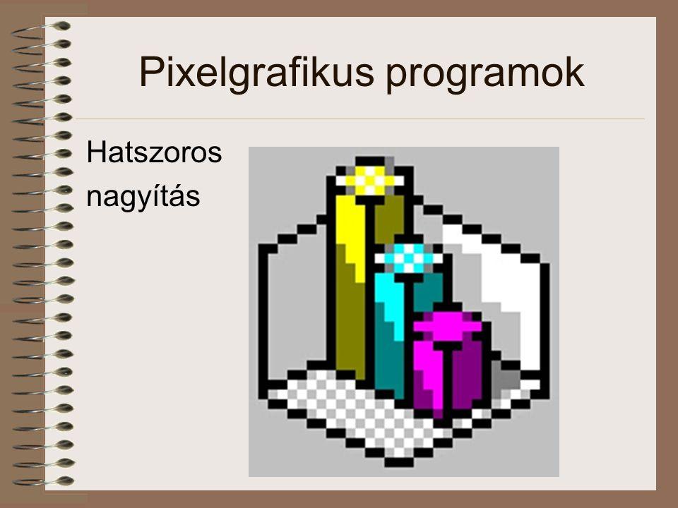 Pixelgrafikus programok Hatszoros nagyítás