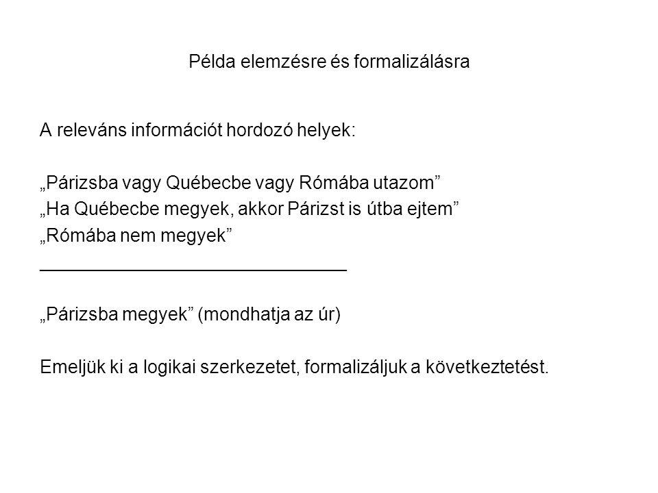 Szemantikai ellenőrzés 4.1 - Szótár Premissza (1): Ha sötét van, akkor senki sincs otthon; vagy alszanak.