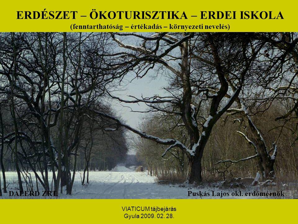 VIATICUM tájbejárás Gyula 2009.02. 28. FOGALOM: TARTAMOSSÁG-FENNTARTHATÓSÁG II.