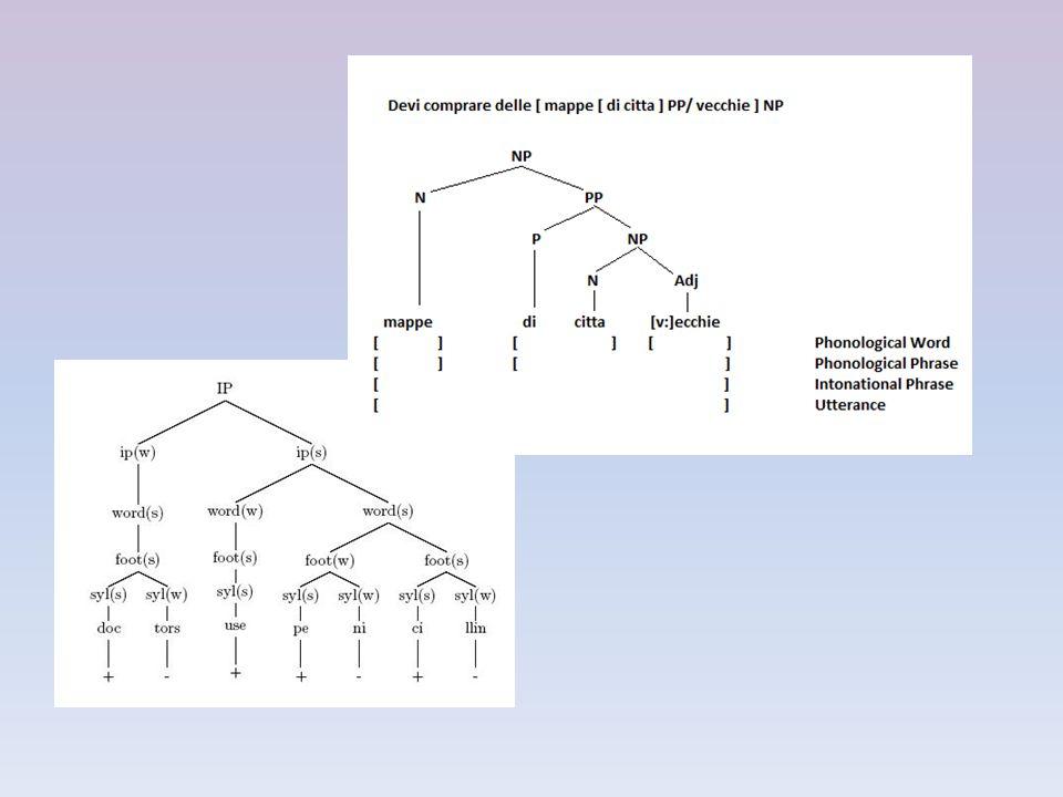 A probléma: Azonos szegmentális feltételek mellett adott fonológiai folyamat végbemegy bizonyos szintaktikai helyzetekben (a.), míg másokban nem (b.): a.un [savant] A [anglais] N a learned Englishman' b.