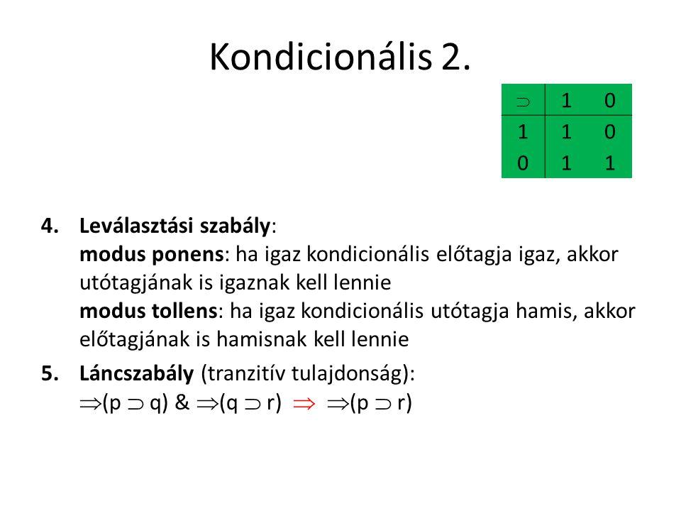 Kondicionális 2.