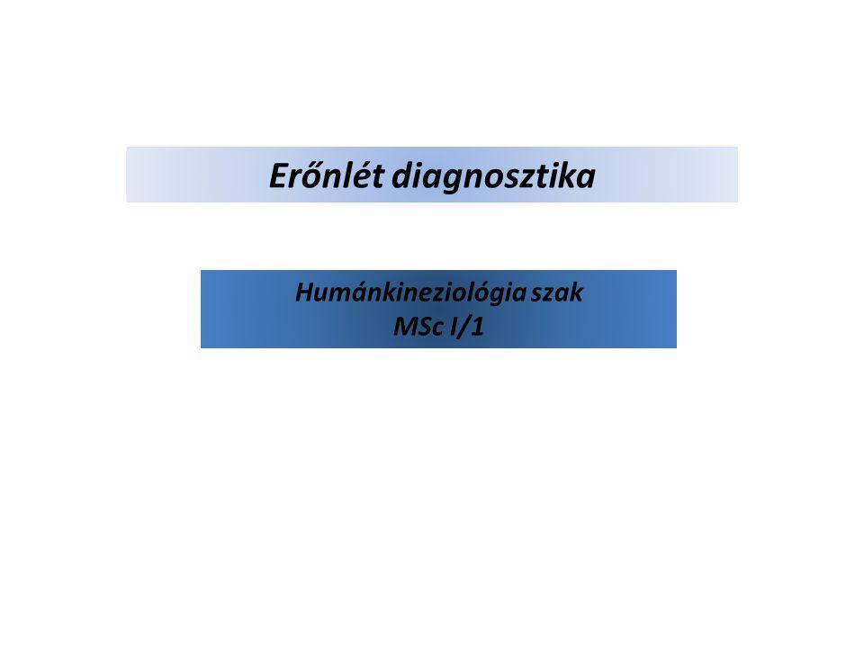 Erőnlét diagnosztika Humánkineziológia szak MSc I/1