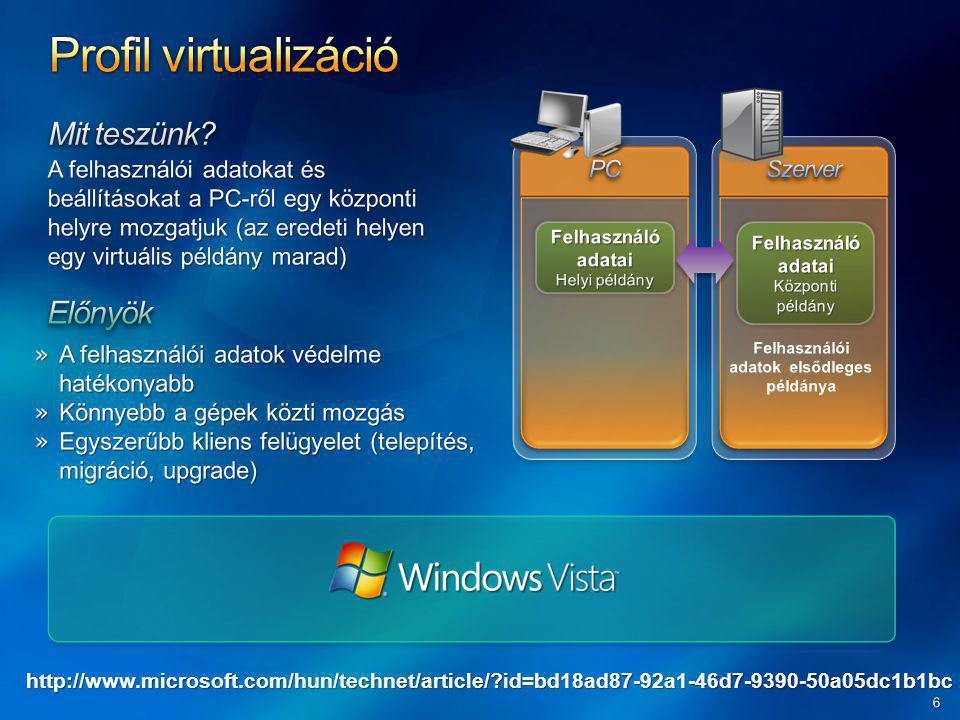 Windows Application CD Windows Application Installer Unpackaging Linearizálás Optimalizálás és tömörítés Virtualizált alkalmazás