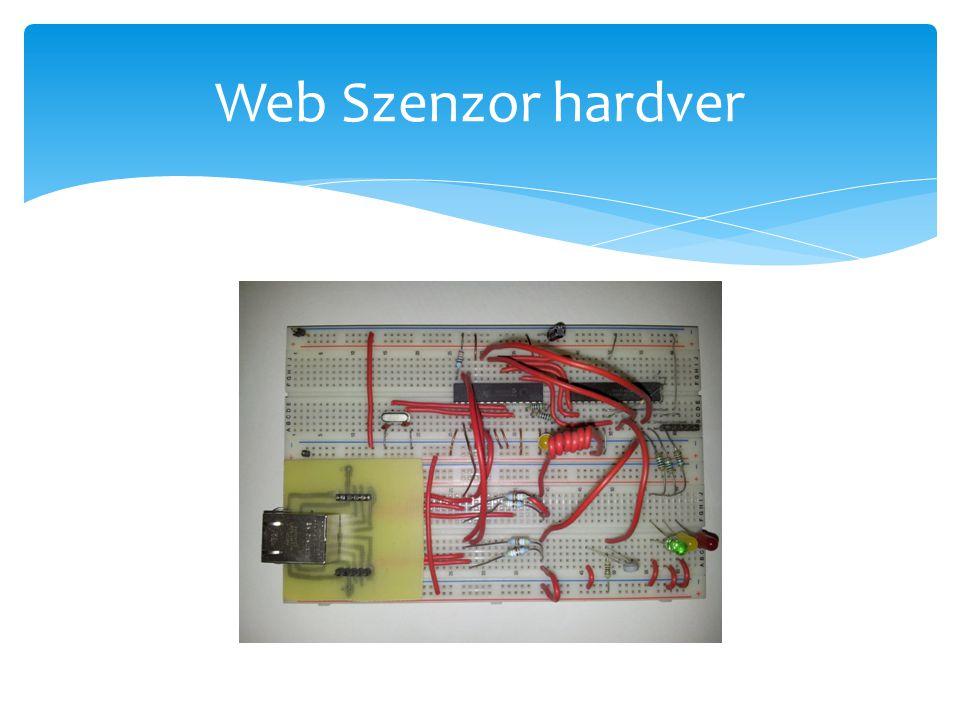Web Szenzor hardver