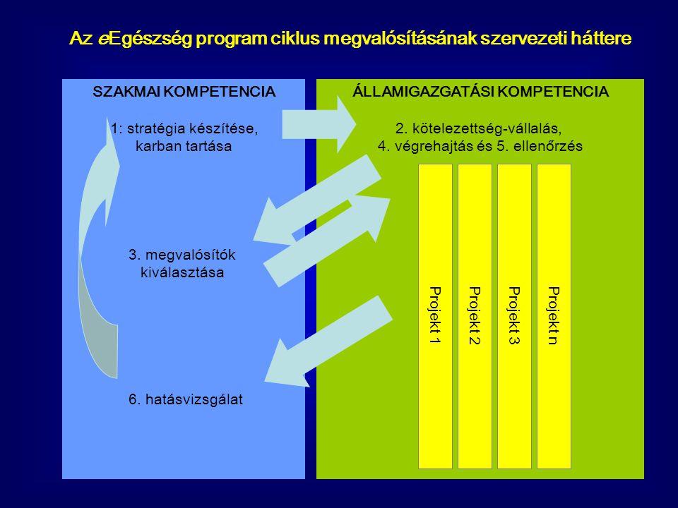 SZAKMAI KOMPETENCIA 1: stratégia készítése, karban tartása 3. megvalósítók kiválasztása 6. hatásvizsgálat ÁLLAMIGAZGATÁSI KOMPETENCIA 2. kötelezettség