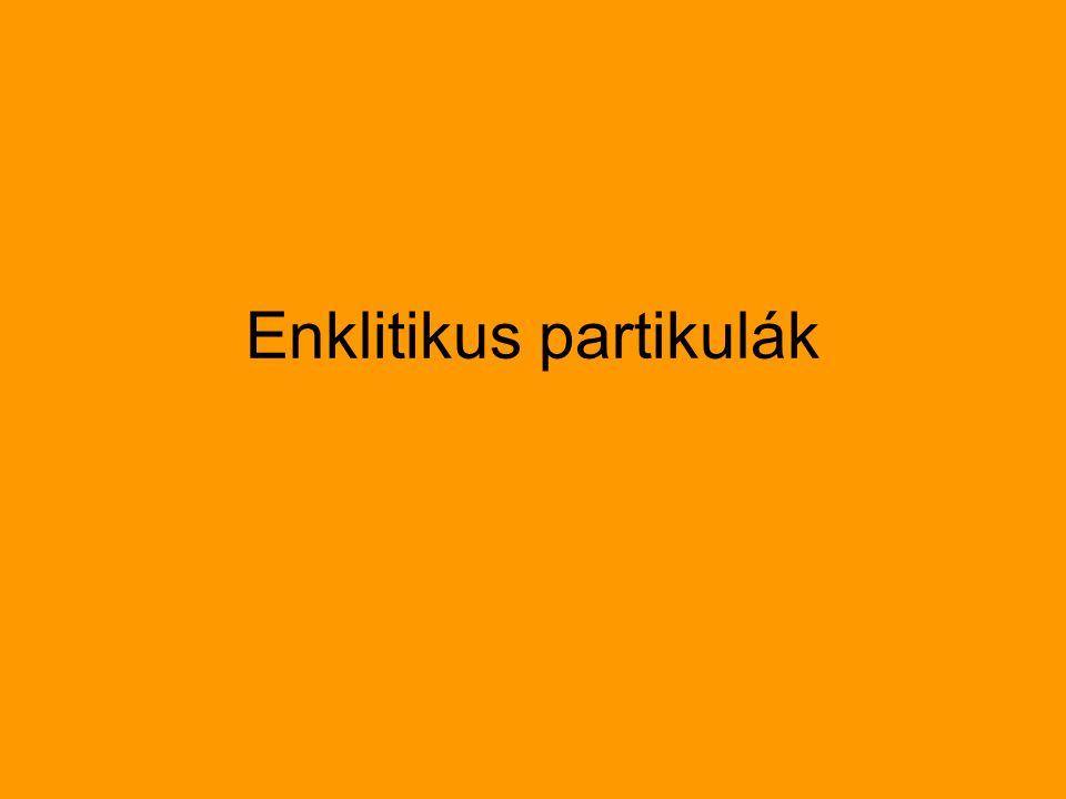 Enklitikus partikulák