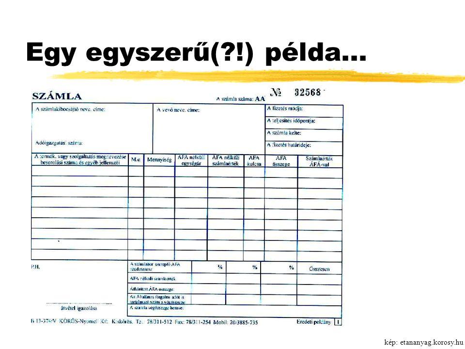 Egy egyszerű(?!) példa... kép: etananyag.korosy.hu