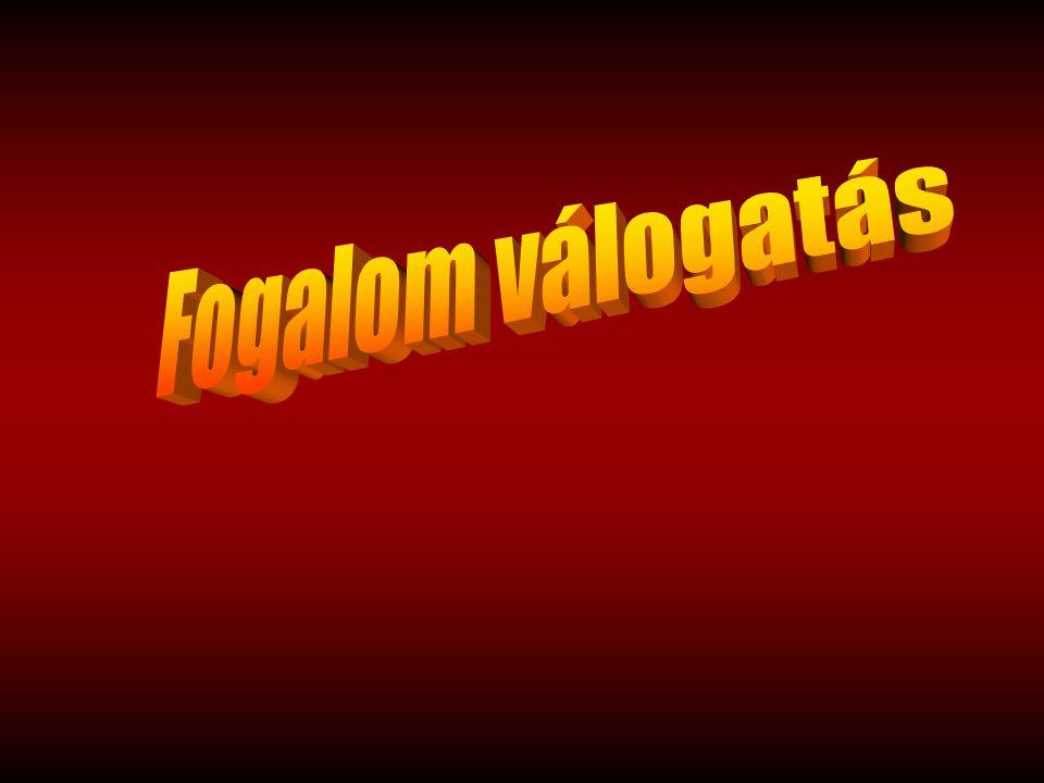 A számozott mondatok egy-egy fogalomnak - A magyar nyelv értelmező szótára szerinti - meghatározását adják, de magának a fogalomnak a megjelölése nélkül.