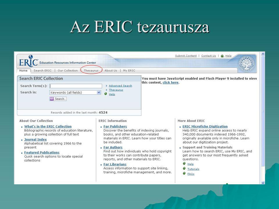 Az ERIC tezaurusza