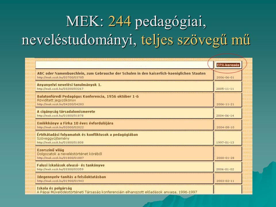 OPKM: adatok  500 ezer kötet könyv, folyóirat és nem hagyományos dokumentum  4800 kötet muzeális értékű régi könyv, elsősorban pedagógiai szakkönyvek, tankönyvek és gyermekkönyvek