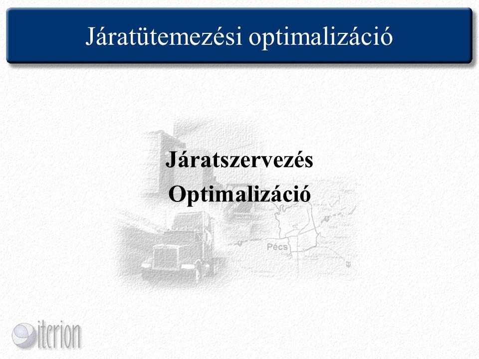 Járatütemezési optimalizáció Járatszervezés Optimalizáció