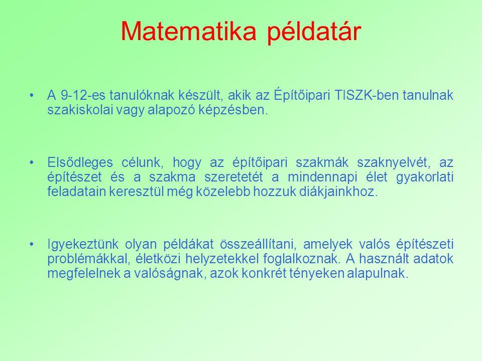 Megoldókulcs a 2.fejezethez Síkidomok kerülete és területe 2.