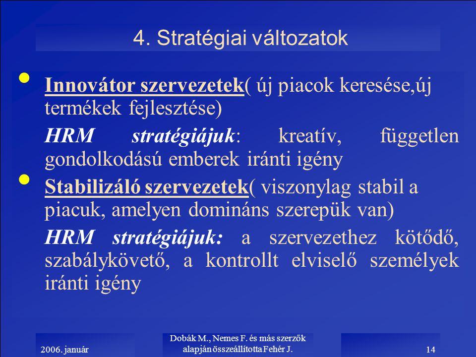 2006. január Dobák M., Nemes F. és más szerzők alapján összeállította Fehér J.14 4.