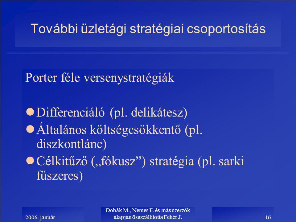 2006. január Dobák M., Nemes F.