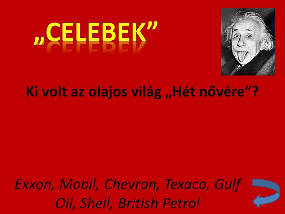 """Ki volt az olajos világ """"Hét nővére""""? Exxon, Mobil, Chevron, Texaco, Gulf Oil, Shell, British Petrol"""