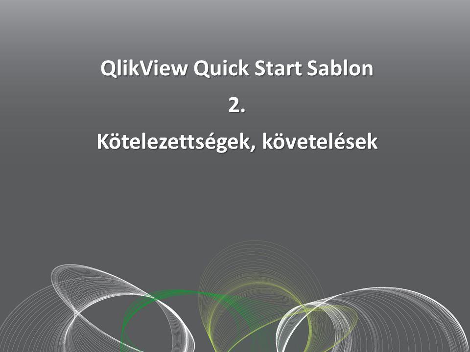 2012 szept. 20.. QlikView Quick Start Sablon 2. Kötelezettségek, követelések