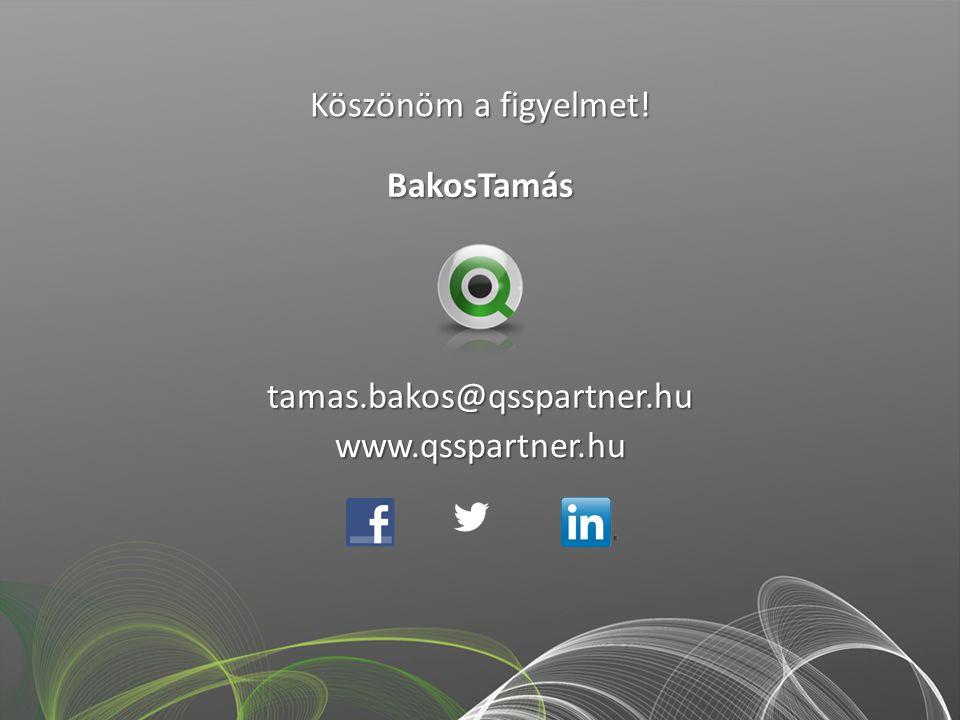 Köszönöm a figyelmet! BakosTamás tamas.bakos@qsspartner.hu www.qsspartner.hu