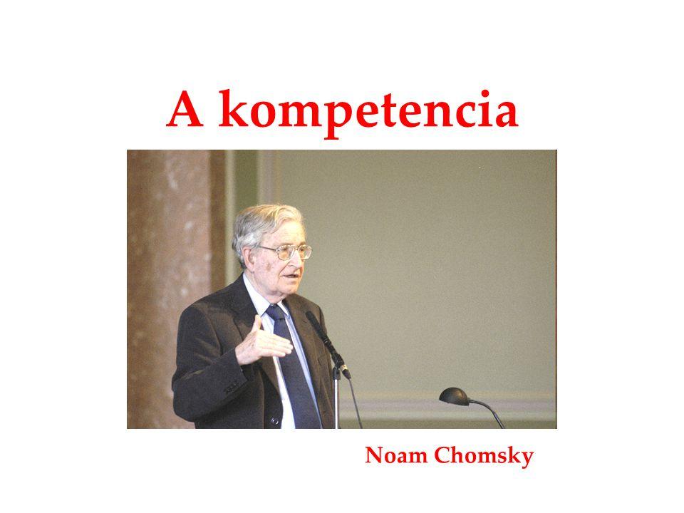 A kompetencia Noam Chomsky