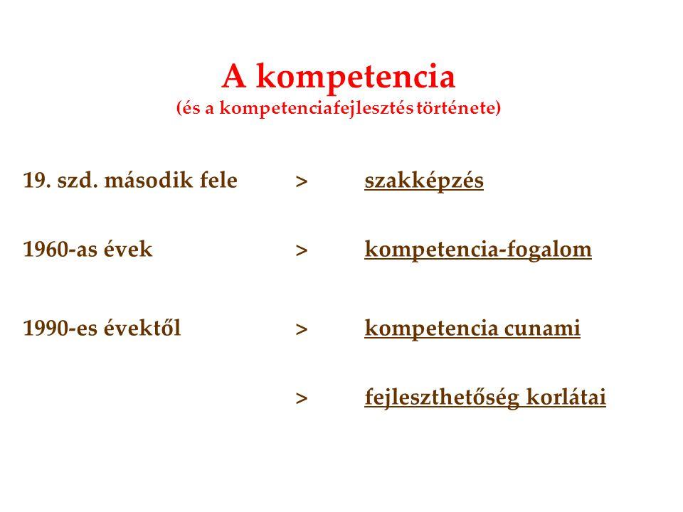 A kompetencia (és a kompetenciafejlesztés története) 19.
