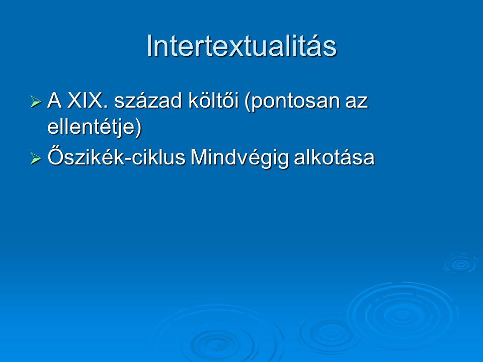 Intertextualitás  A XIX.