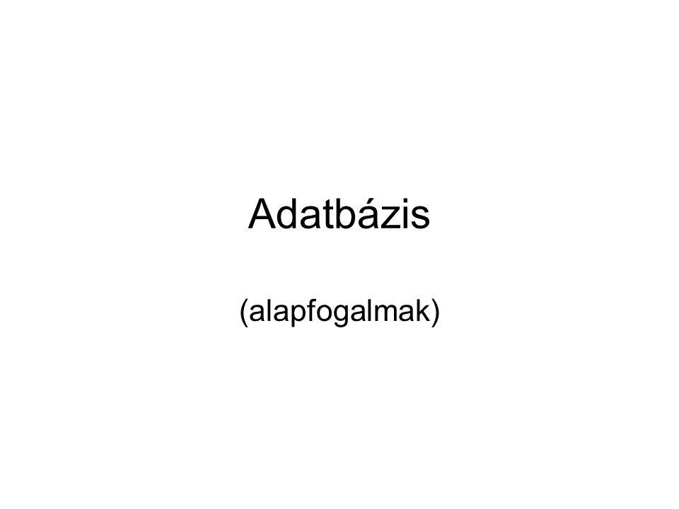 Alapfogalmak I Adat: –minden olyan ismeret, mely már előzőleg rögzítésre került.