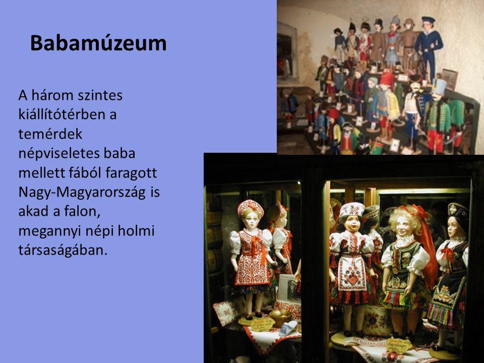 Történelmi panoptikum Magyarország legnagyobb Panoptikumában közel negyven magyar király, fejedelem, hadvezér, költő és író megtévesztésig hű viaszszobra látható, melyek korhű öltözékben és környezetben varázsolják a múltat elénk.