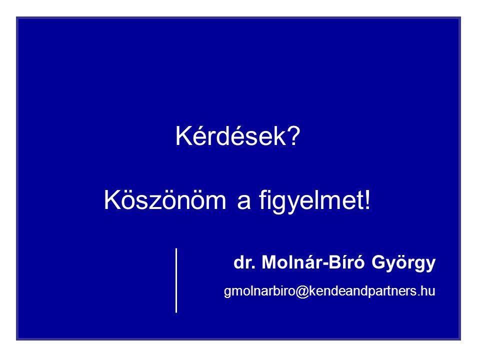 11 Kérdések? Köszönöm a figyelmet! dr. Molnár-Bíró György gmolnarbiro@kendeandpartners.hu