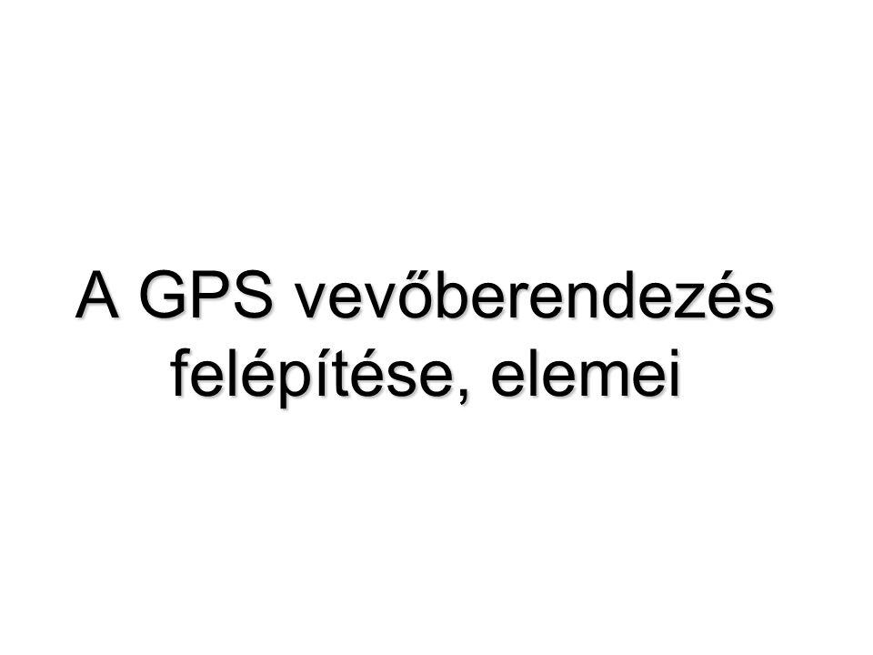 A GPS vevőberendezés felépítése, elemei