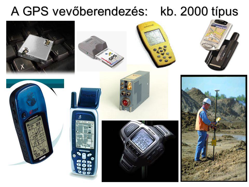 A GPS vevőberendezés: kb. 2000 típus