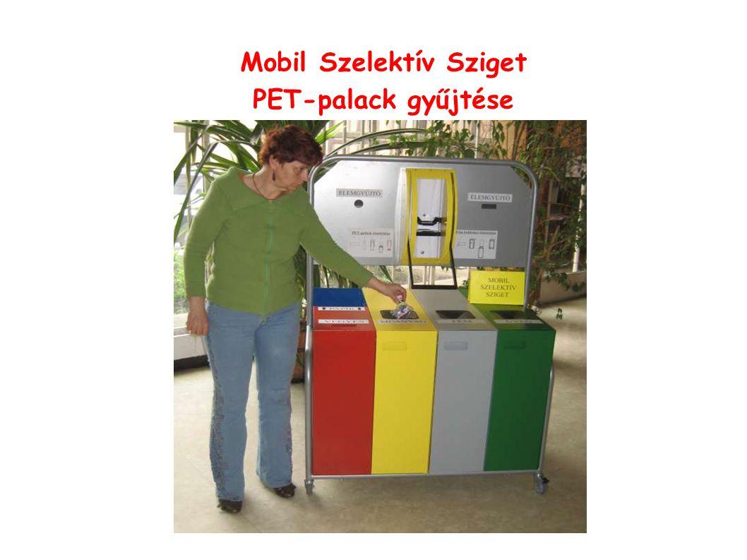 Mobil Szelektív Sziget PET-palack gyűjtése