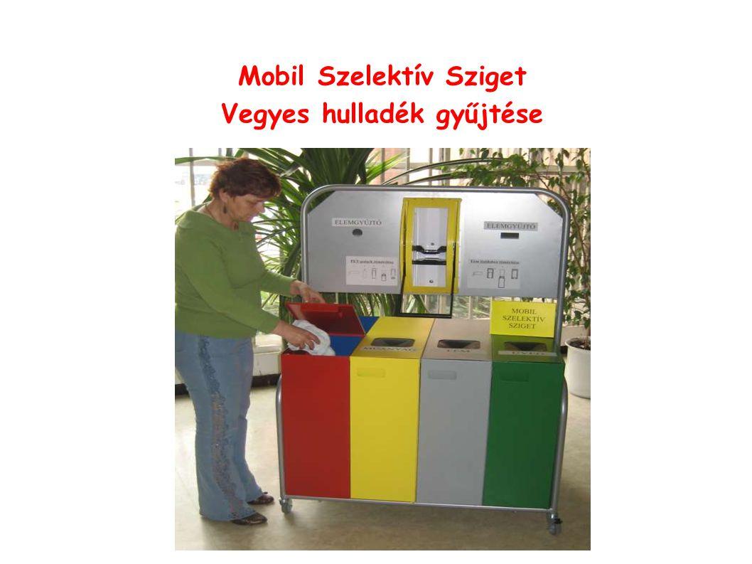 Mobil Szelektív Sziget Vegyes hulladék gyűjtése