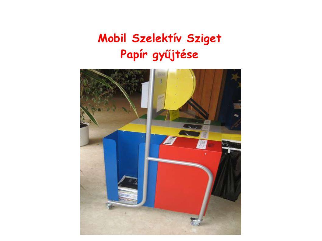 Mobil Szelektív Sziget Papír gyűjtése