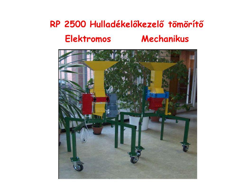 RP 2500 Hulladékelőkezelő tömörítő ElektromosMechanikus
