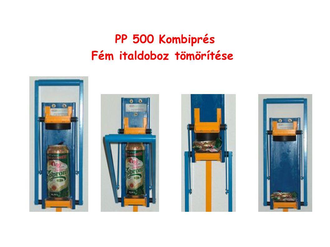 PP 500 Kombiprés Fém italdoboz tömörítése
