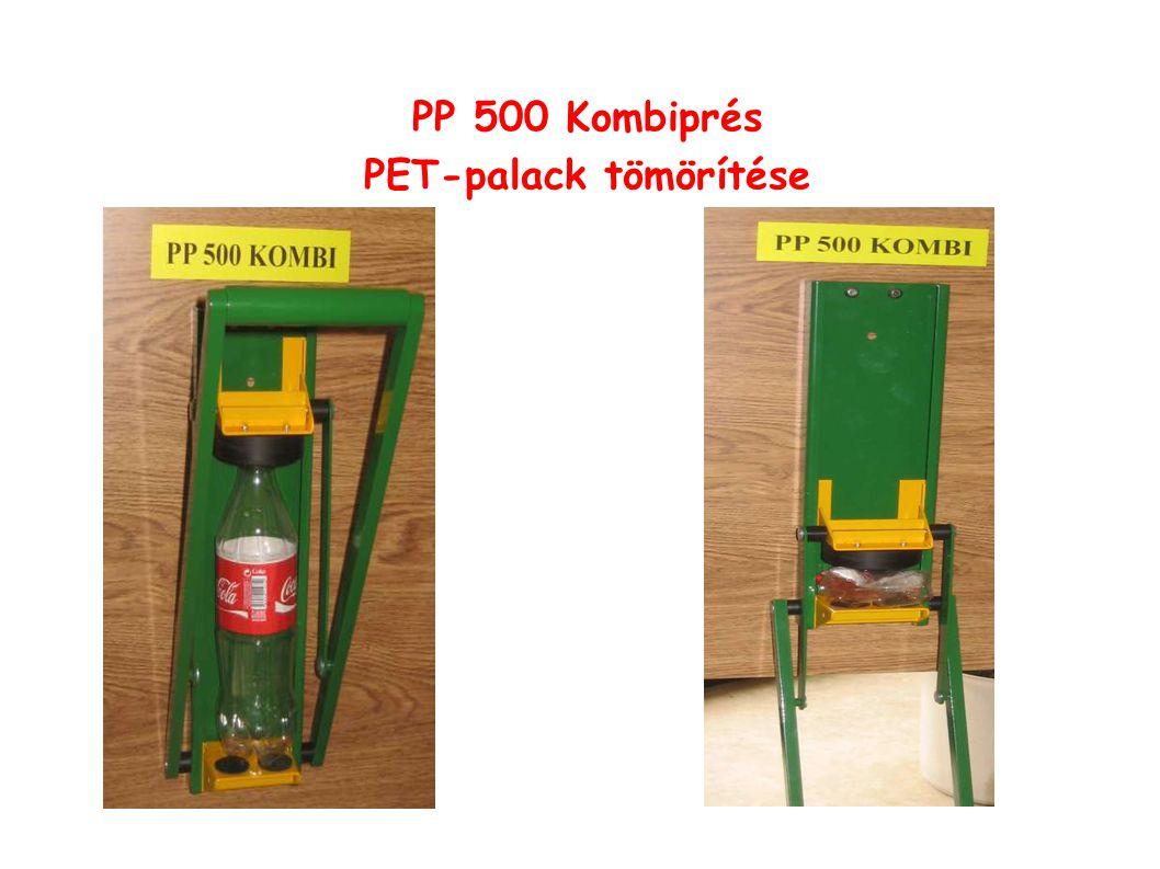 PP 500 Kombiprés PET-palack tömörítése