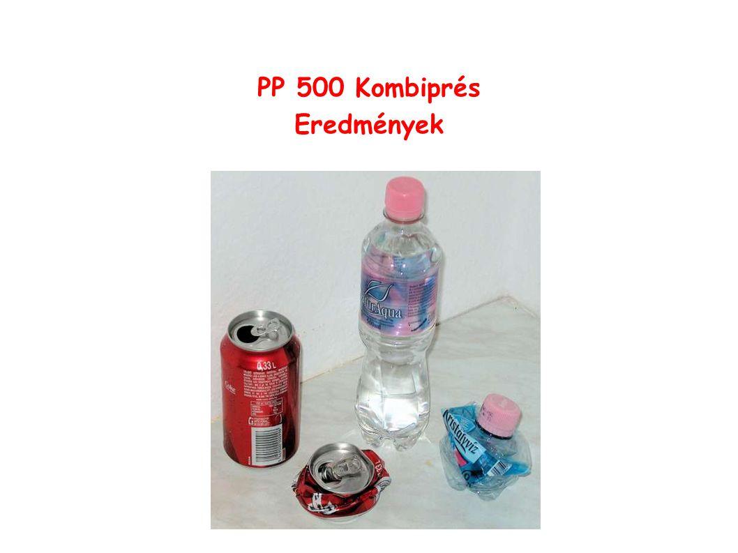PP 500 Kombiprés Eredmények