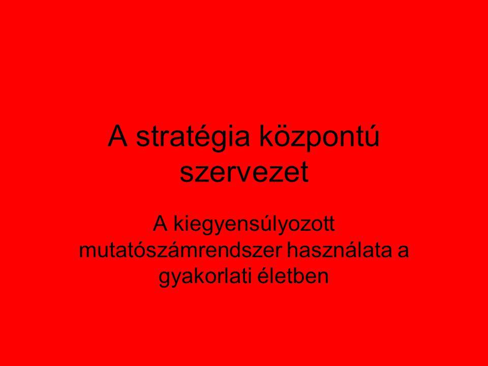 A stratégia központú szervezet A kiegyensúlyozott mutatószámrendszer használata a gyakorlati életben