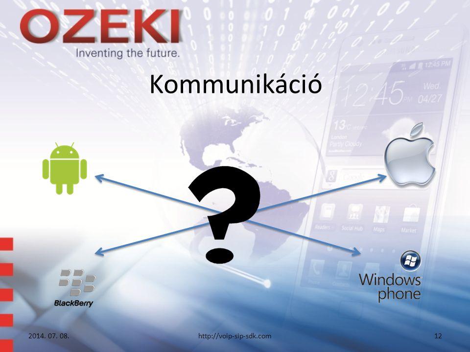 Kommunikáció 2014. 07. 08.http://voip-sip-sdk.com12