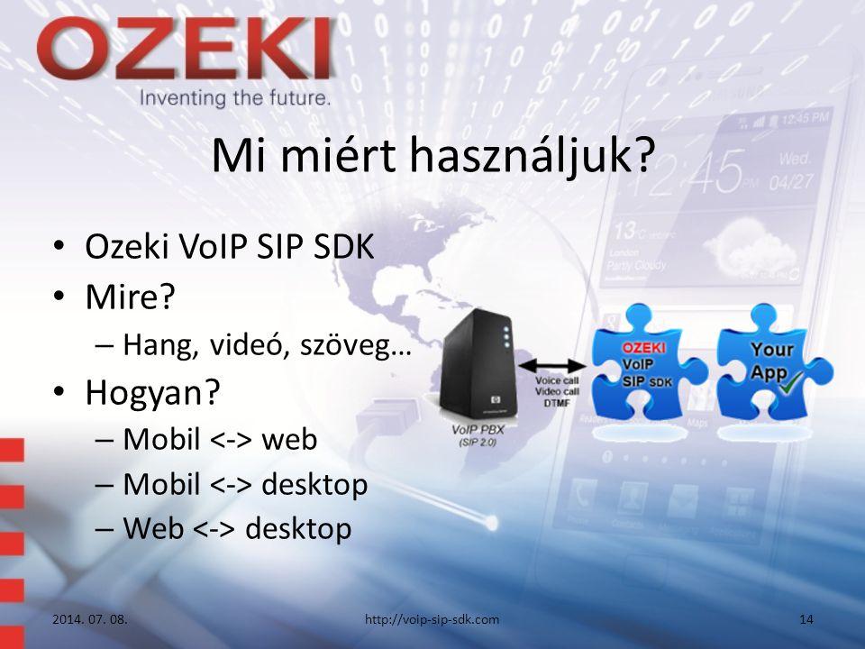 Mi miért használjuk. Ozeki VoIP SIP SDK Mire. – Hang, videó, szöveg… Hogyan.