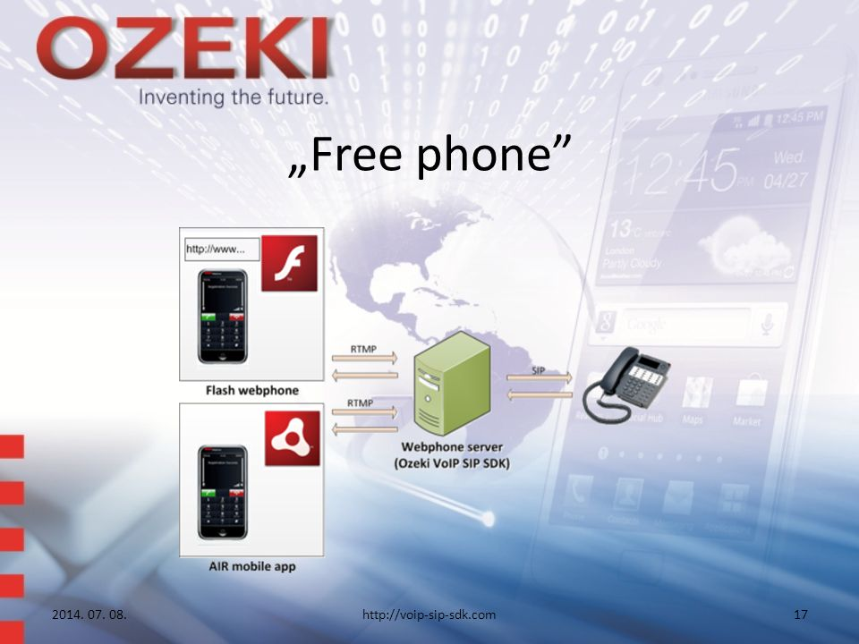 """Free phone 2014. 07. 08.http://voip-sip-sdk.com17"