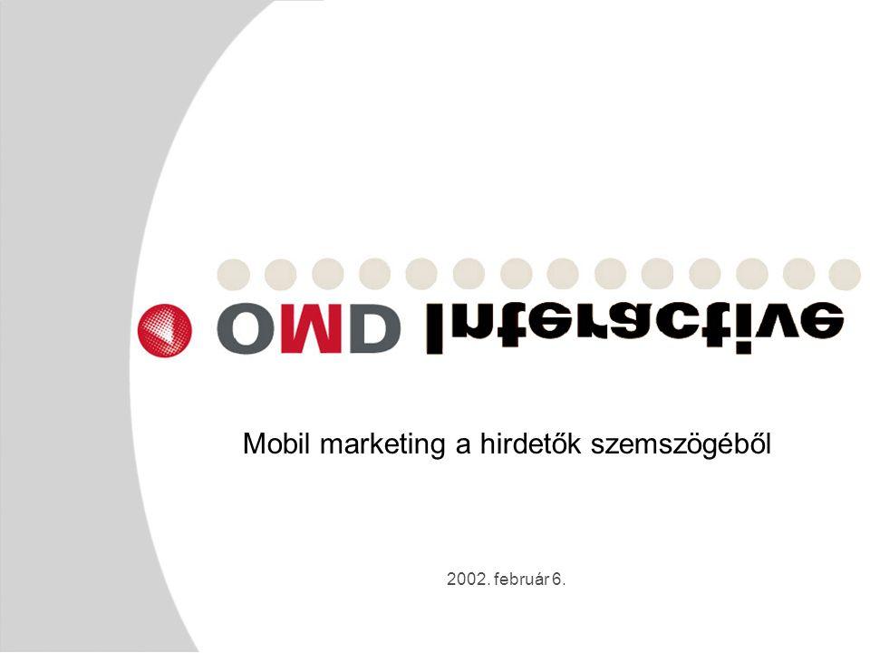 2002. február 6. Mobil marketing a hirdetők szemszögéből