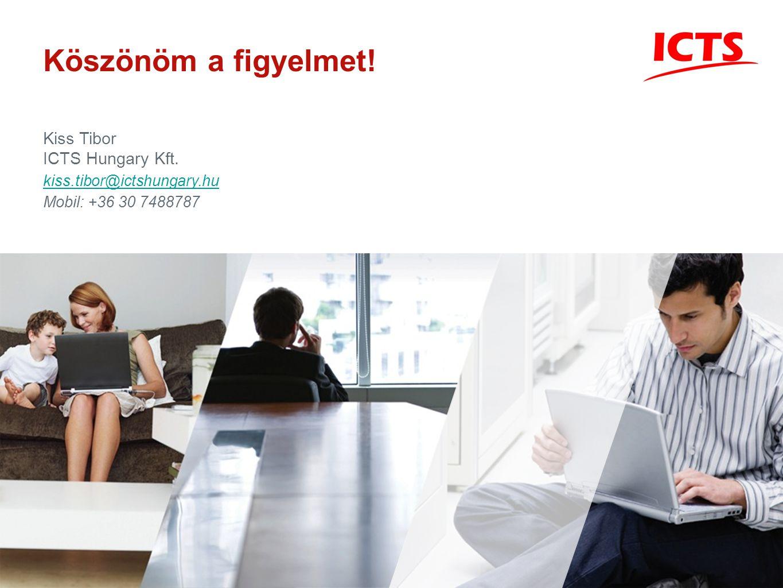 Köszönöm a figyelmet! Kiss Tibor ICTS Hungary Kft. kiss.tibor@ictshungary.hu Mobil: +36 30 7488787
