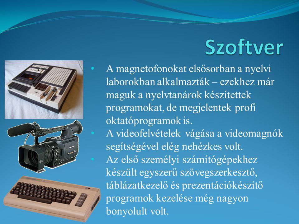 A magnetofonokat elsősorban a nyelvi laborokban alkalmazták – ezekhez már maguk a nyelvtanárok készítettek programokat, de megjelentek profi oktatópro