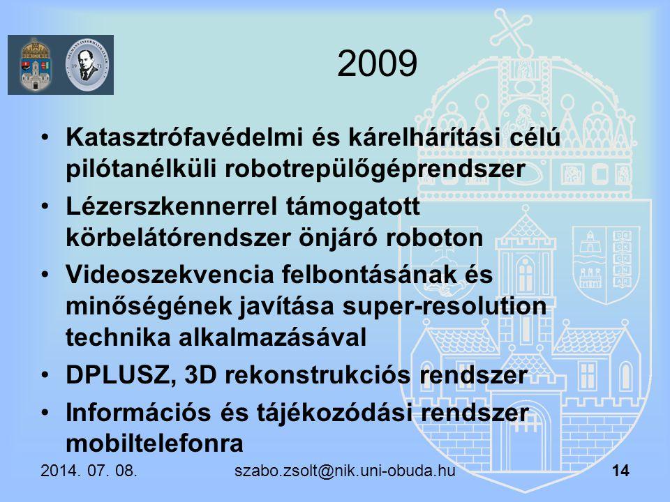 2009 Katasztrófavédelmi és kárelhárítási célú pilótanélküli robotrepülőgéprendszer Lézerszkennerrel támogatott körbelátórendszer önjáró roboton Videos