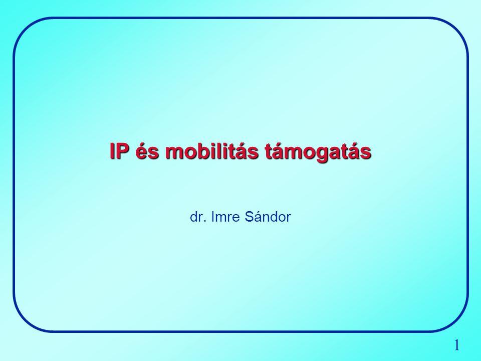 1 IP és mobilitás támogatás dr. Imre Sándor