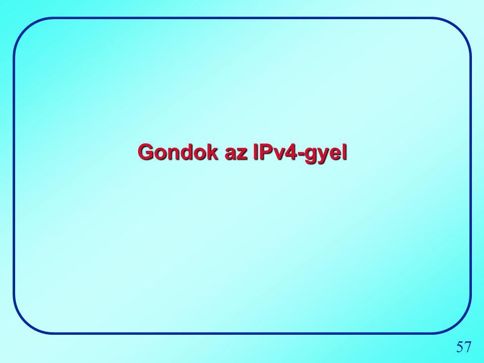57 Gondok az IPv4-gyel